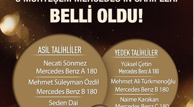 SANKO PARK ÜÇ KİŞİYİ MERCEDES SAHİBİ YAPTI..