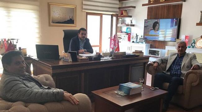 Başkan Deveboynu'ndan Aksu TV'ye ziyaret..