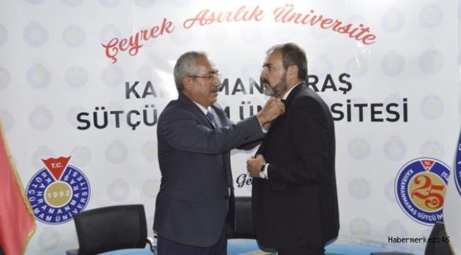 REKTÖR DEVECİ'DEN MAHİR ÜNAL'A ROZET..