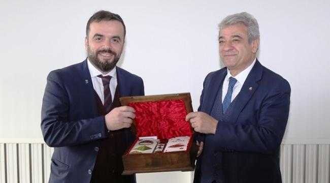 EVSİD HEYETİ, BAŞKAN ZABUN'U ZİYARET ETTİ..