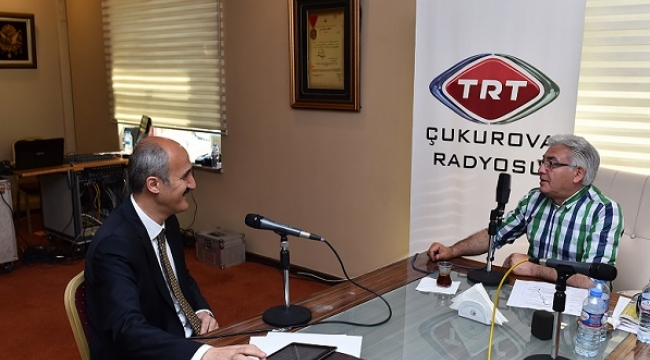BAŞKAN OKAY TRT ÇUKUROVA'NIN KONUĞU OLDU..