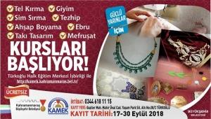 TÜRKOĞLU KAMEK KURSLARINA KAYITLAR BAŞLADI..