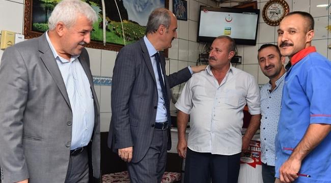 BAŞKAN OKAY, ESNAFLA BİR ARAYA GELDİ..