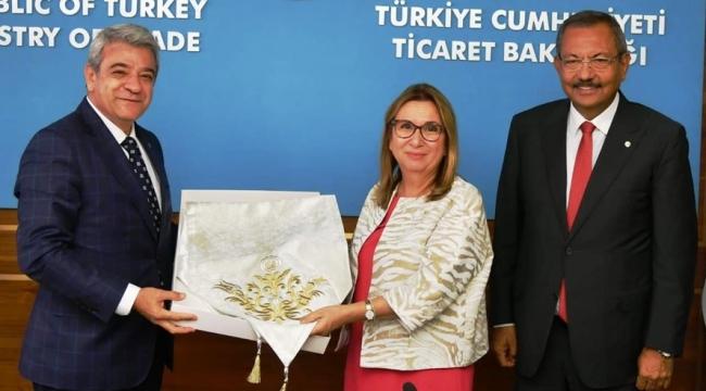 KMTSO'DAN TİCARET BAKANI RUHSAR PEKCAN'A ZİYARET
