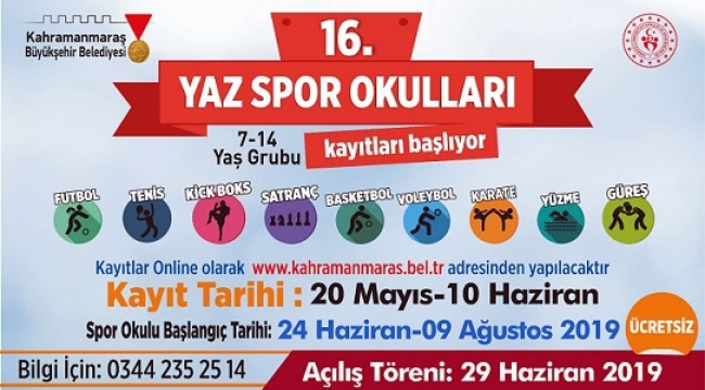 HAYDİ ÇOCUKLAR YAZ SPOR OKULUNA..