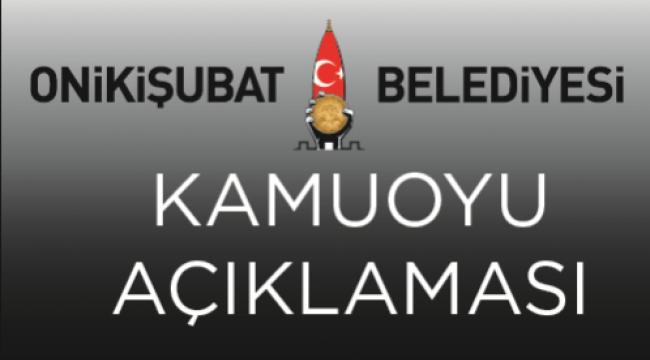SORUŞTURMANIN BELEDİYEMİZLE ALAKASI YOK...