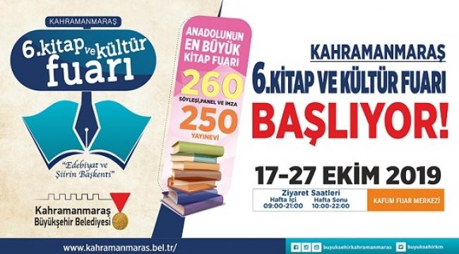 6. Kitap ve Kültür Fuarı 17 Ekim'de..