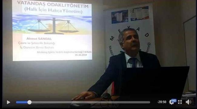 AHMET SANDAL'DAN VATANDAŞ ODAKLI YÖNETİM SEMİNERİ..