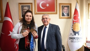 Avrupa Şampiyonu'ndan Başkan Mahçiçek'e Ziyaret..