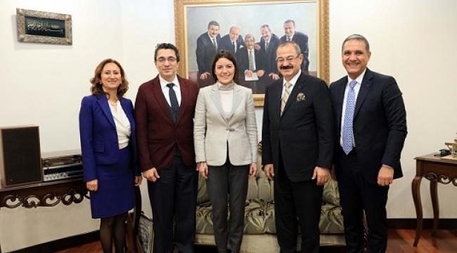 ING BANK GENEL MÜDÜRÜ PINAR ABAY'DAN SANKO'YA ZİYARET..