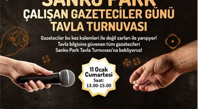 SANKO PARK'TA ÖDÜLLÜ TAVLA TURNUVASI..