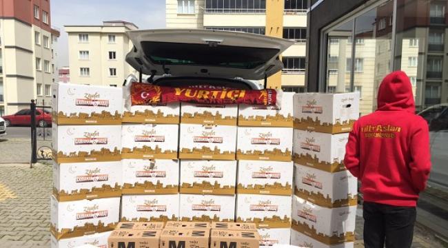 ultrAslan Kahramanmaraş'ta Yardım Kolisi Dağıtımı ..