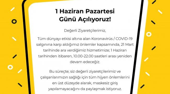 SANKO PARK BUGÜN YENİDEN AÇILIYOR..