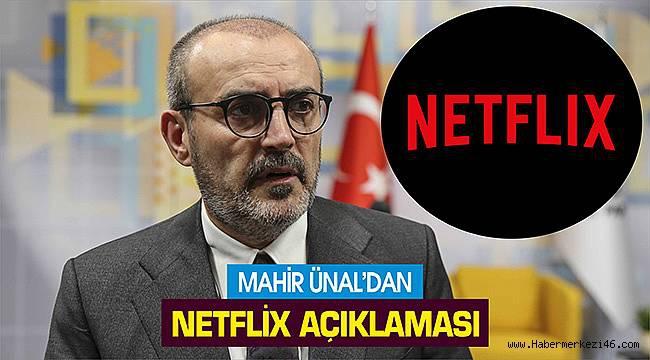 Mahir Ünal'dan Netflix açıklaması...