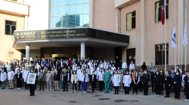 Büyük Önder SANKO Üniversitesi Hastanesi'nde Anıldı