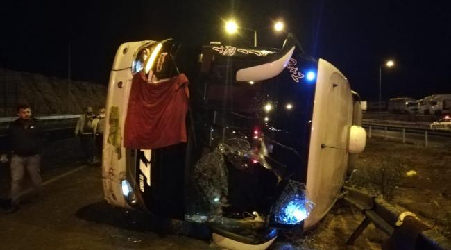Kahramanmaraş'ta otobüs devrildi: 14 yaralı..