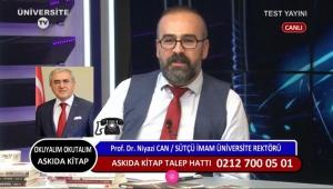 Rektör Prof. Dr. Niyazi Can, Üniversite TV Yayınına Katılarak KSÜ'yü Anlattı