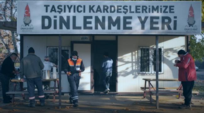 BAŞKAN MAHÇİÇEK'TEN TAŞIYICILARA JEST..