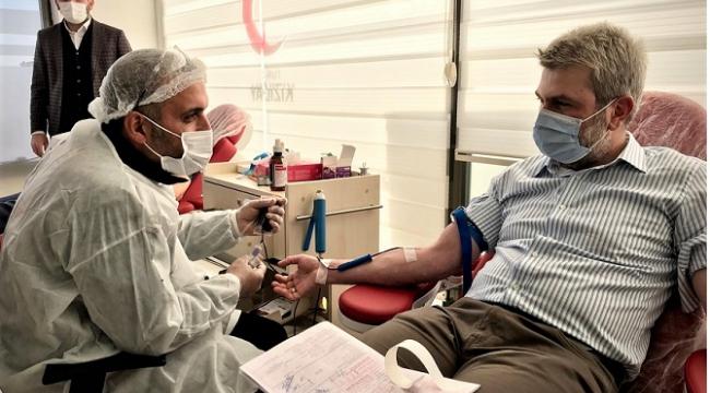 Kahramanmaraş AK Parti'den kan bağışı..