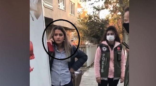 Maske takmadı yakalanınca caddeyi birbirine kattı...
