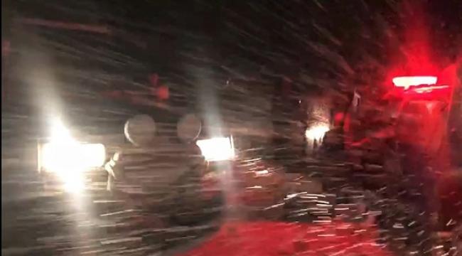 Kahramanmaraş-Kayseri yolu büyük araçların geçişine kapatıldı..