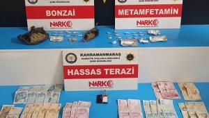 Uyuşturucu tacirlerinin evine şok baskın 4 tutuklama..