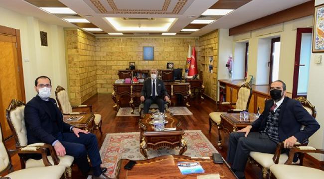 Vekiller Özdemir ve Sezal'dan Rektör Can'a ziyaret...
