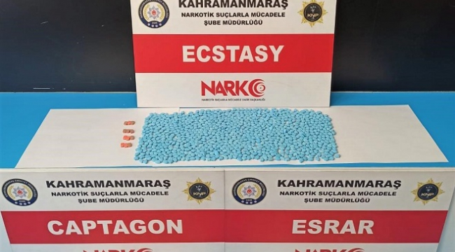 Kahramanmaraş'ta uyuşturucu satıcısı suçüstü yakalandı..