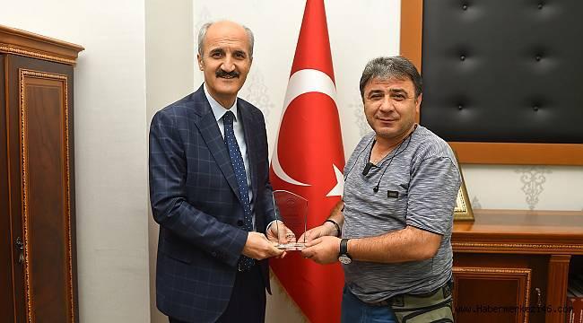 Gazeteci Lütfü Yıkan'a Dulkadiroğlu Belediyesinden vefa..