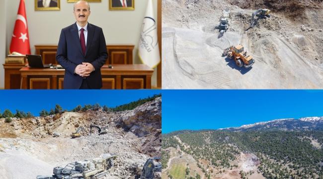 Dulkadiroğlu Belediyesi, bölgesine taş ocağı ve kum şantiyesi kazandırdı