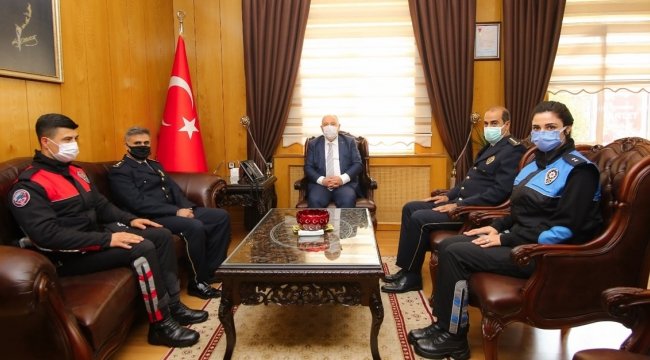 Emniyet Müdürü Cebeloğlu'ndan Vali Coşkun'a ziyaret
