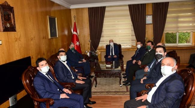 MÜSİAD Genel Başkanı Kaan'dan Vali Coşkun'a ziyaret