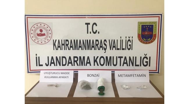 Pazarcık'ta uyuşturucudan 2 kişi gözaltına alındı