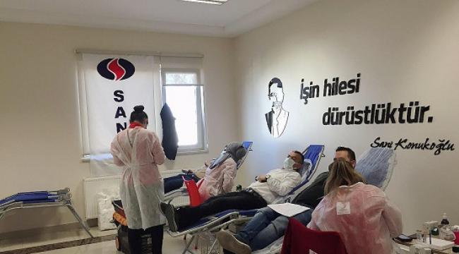 SANKO Tekstil Adıyaman çalışanlarından kan bağışı..