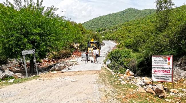 Andırın'da İki Yol Daha Tamamlandı