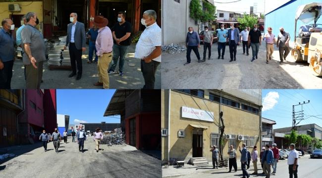 Başkan Okay, Sanayi Esnafını Ziyaret Etti