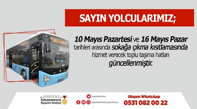 Toplu Taşıma Seferlerine Güncelleme..