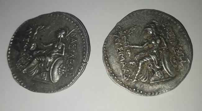 Üzerlerinden Roma dönemine ait sikke çıktı