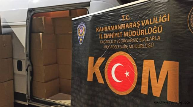 Kahramanmaraş'ta 1 milyon 820 kaçak makaron ele geçirildi