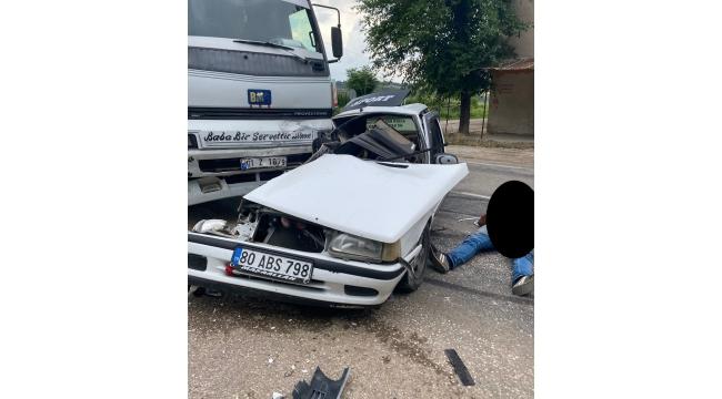 Kahramanmaraş'ta otomobil ile kamyon çarpıştı: 1 ölü 1 yaralı