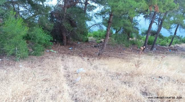 Kahramanmaraş'ta yoldan çıkan araç baraja uçtu