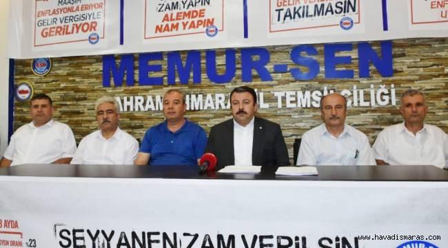 """Başkan Aydın, """"Bu zam değil, enflasyon kaynaklı memurun kaybıdır"""""""