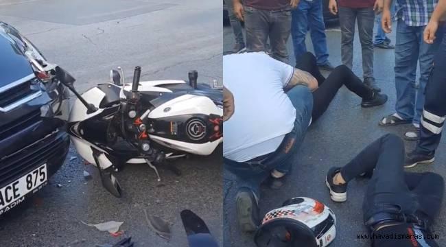 Kahramanmaraş'ta aranan şahıs kaza yapınca yakalandı