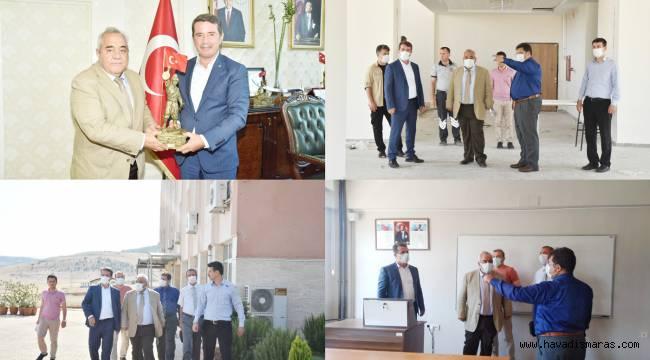 KİÜ Rektörü Özgül, Türkoğlu Yerleşkesinde İncelemelerde Bulundu