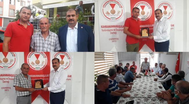 Osmaniye Kahramanmaraşlılar Derneği'nde Bayrak Değişimi