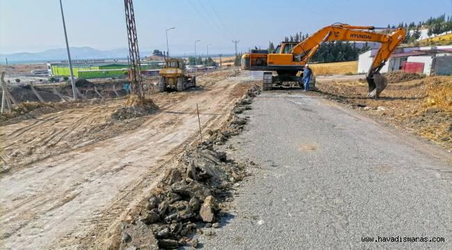 Türkoğlu'nun Yeni Bulvarı Tamamlanıyor