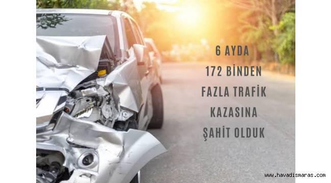 6 Ayda 172 Binden Fazla Trafik Kazasına Şahit Olduk