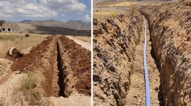 Elbistan Kangal Mahallesinde İçme Suyu Çalışmaları Devam Ediyor
