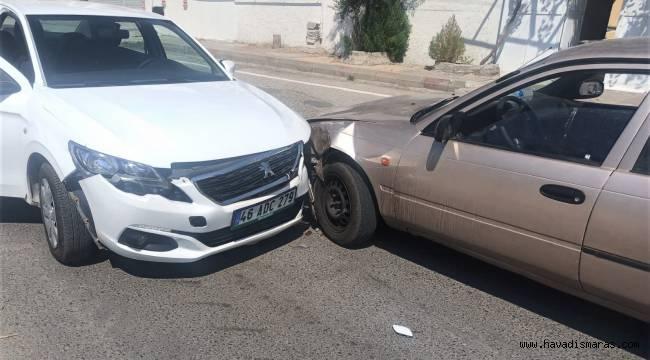 Pazarcık'ta trafik kazası: 1 yaralı