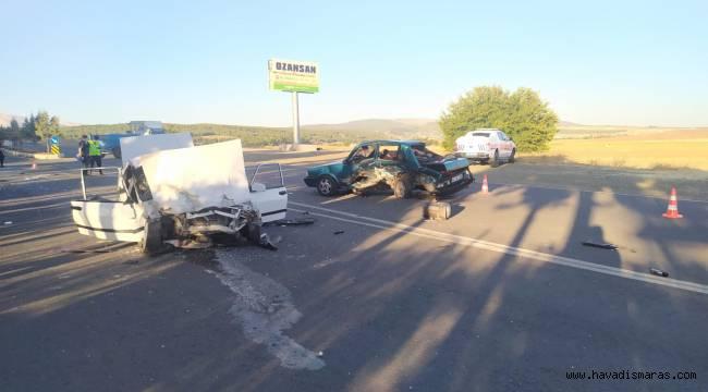 Kahramanmaraş'ta iki otomobil paramparça oldu: 7 yaralı
